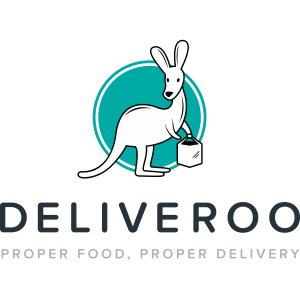 Deliveroo logo (colour, text underneath, English tagline, 4000x4000px)
